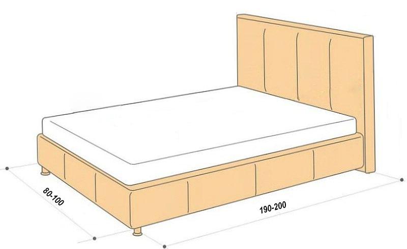 Стандартные размеры односпальной кровати