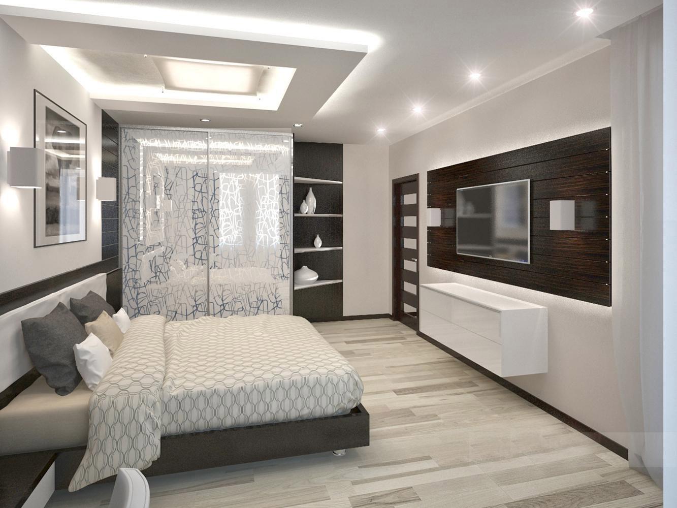 Стиль высокие технологии в современной спальне