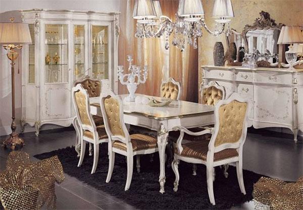 Столовая с итальянской мебелью