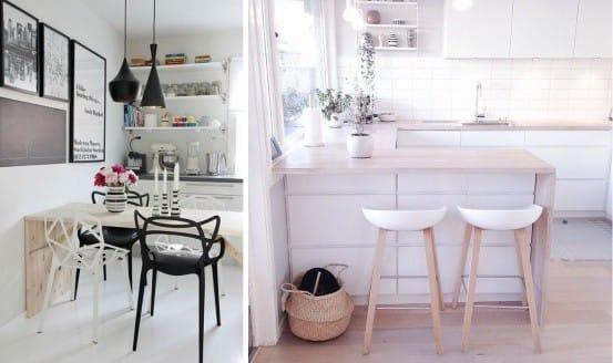 Столы и стулья в скандинавском стиле