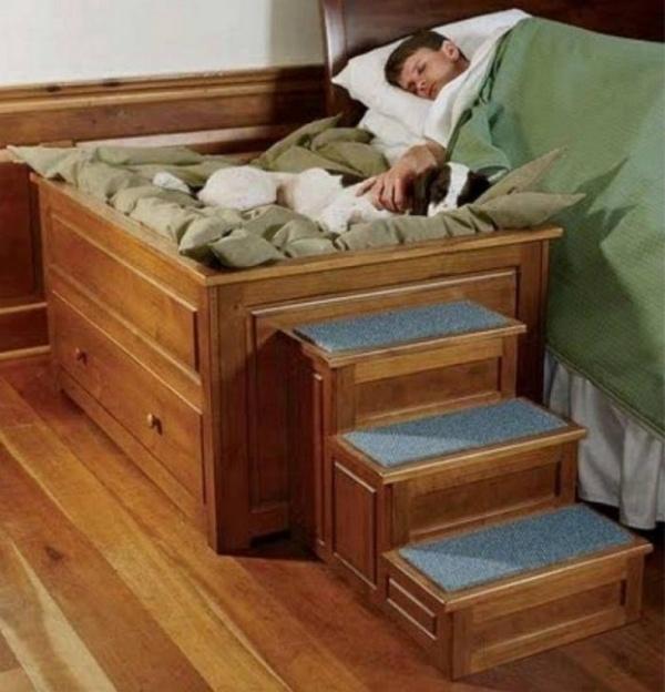 Ступеньки на кровать для собаки