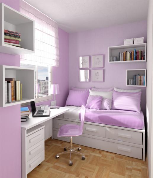 Светлая фиолетовая мебель