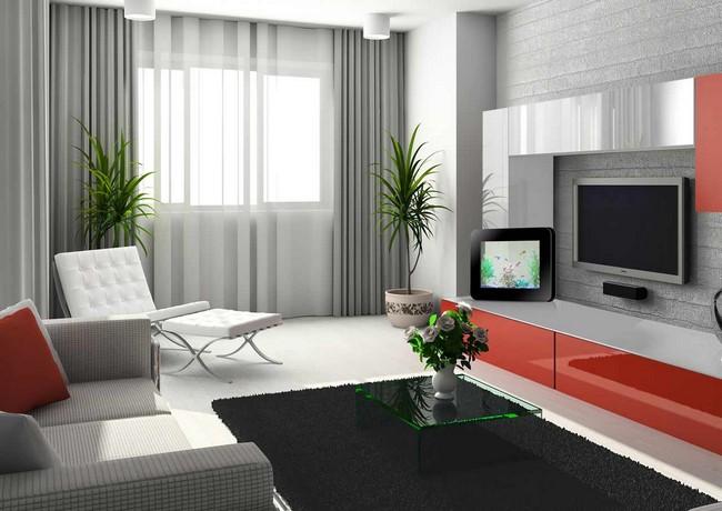 Технологичный интерьер комнаты