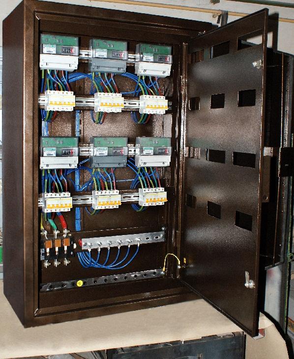 Темный шкаф учета электроэнергии