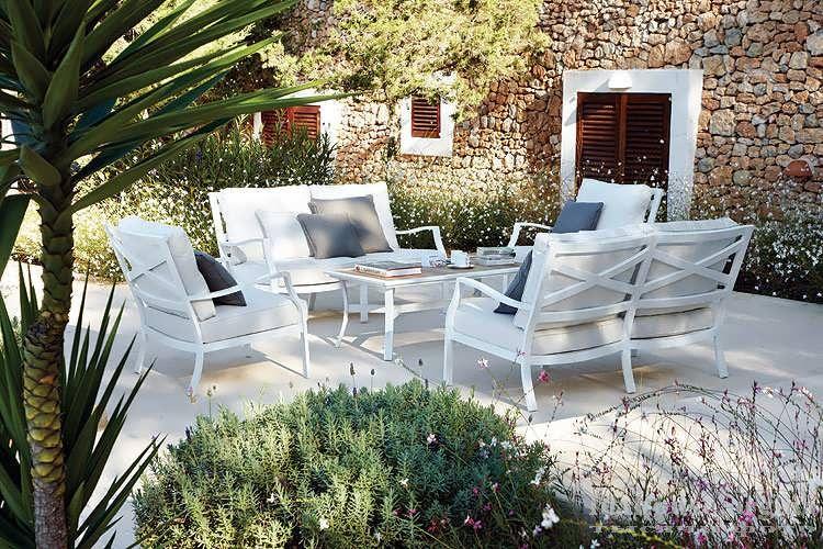 Террасная белая мебель