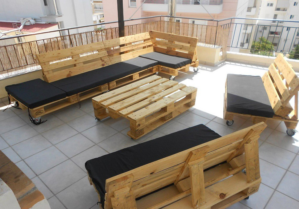 Террасная мебель на основе поддонов