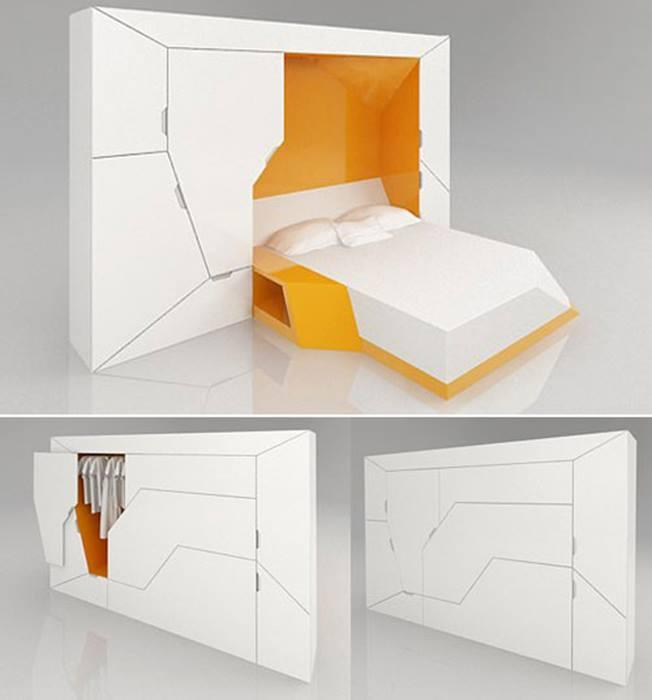 Трансформирующаяся мебель с модными элементами