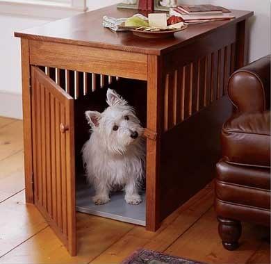 Тумба с местом для собаки