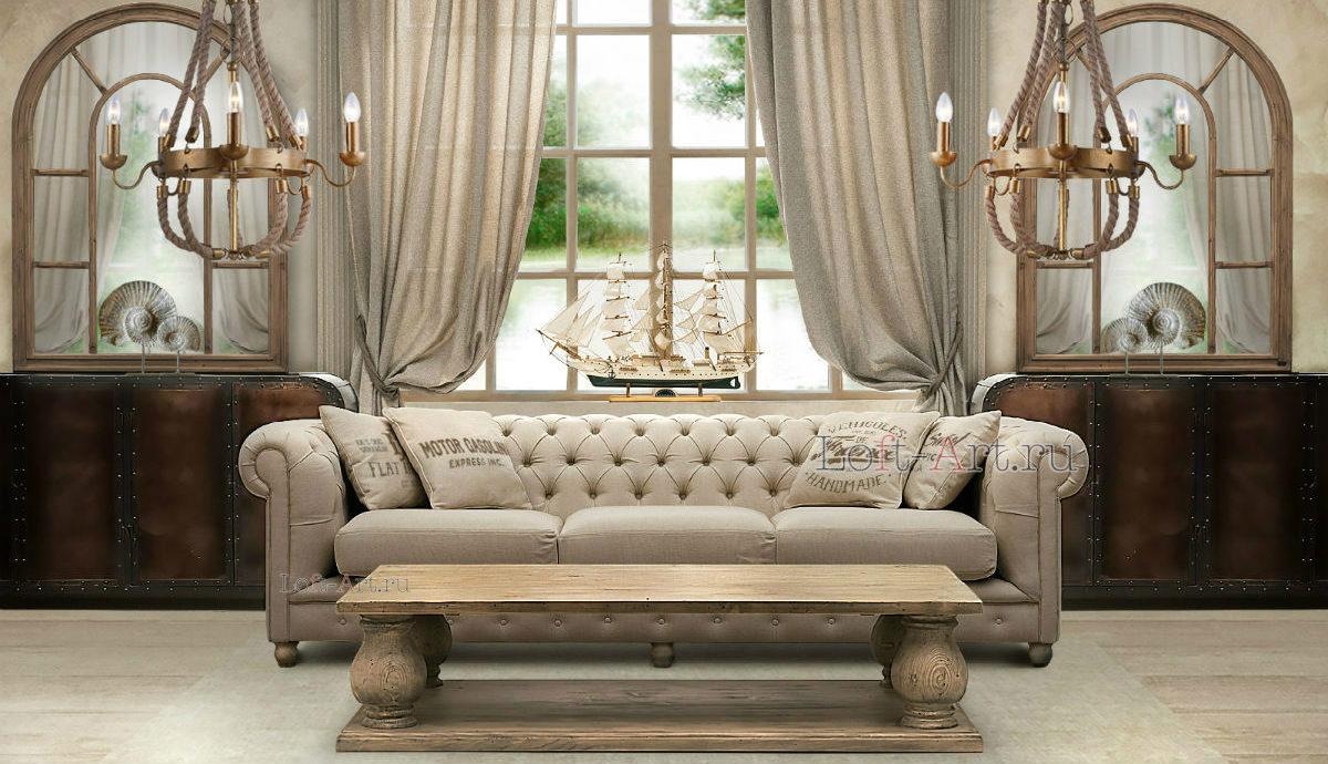 Удобный диван серого цвета