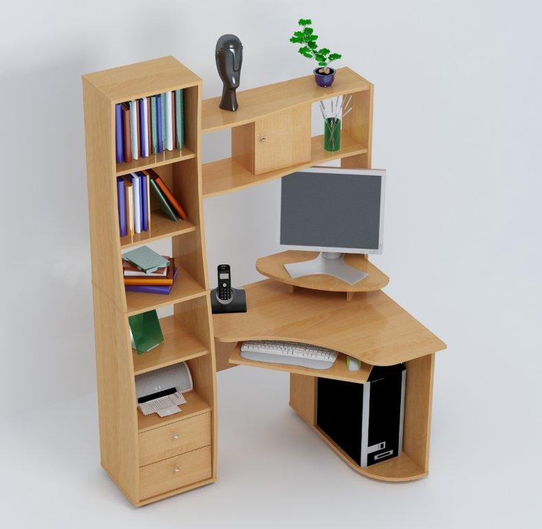 Угловая компактная корпусная мебель