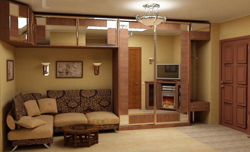 Угловая корпусная мебель для гостиной