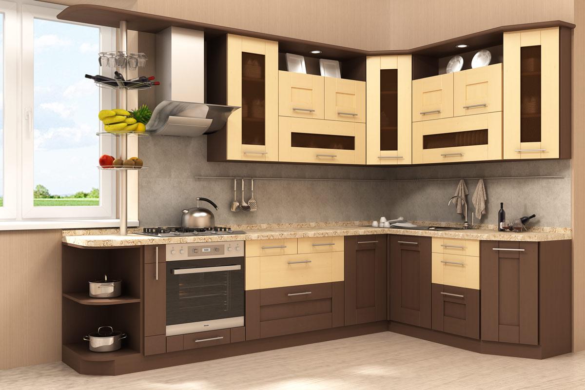 Угловая кухня из качественного МДФ