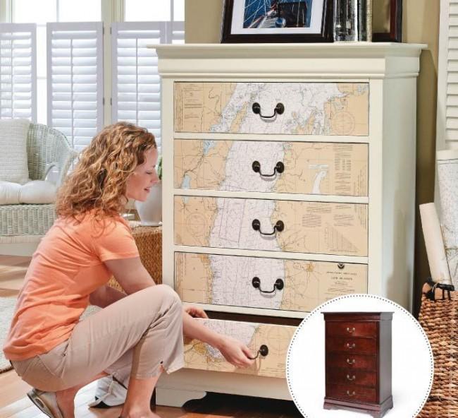 В Венеции мастера использовали декупаж для отделки поверхностей мебели