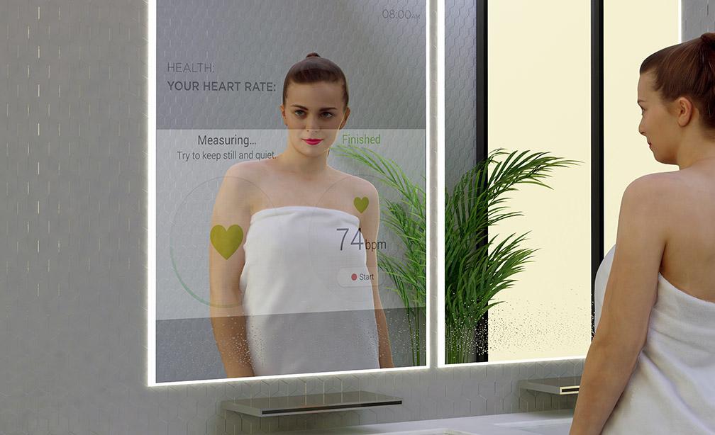 Ванная комната будет содержать умные зеркала