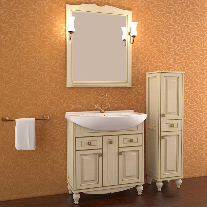Ванная комната с красивым комплектом мебели