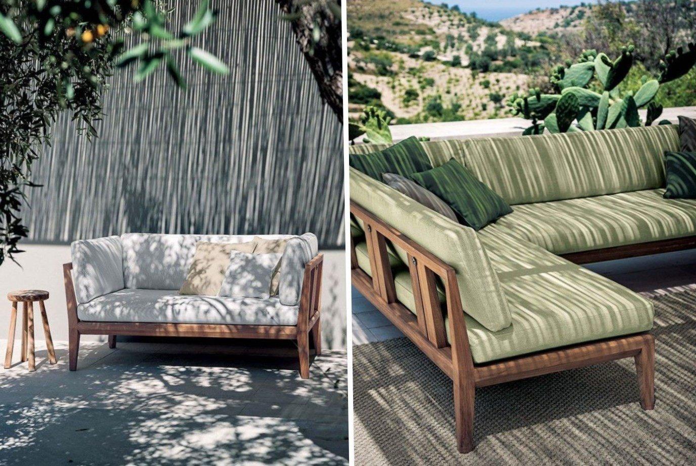 Варианты обустройства веранды мягкой мебелью