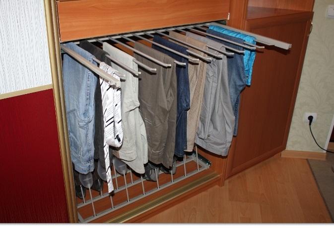 Вешалка для брюк в шкаф