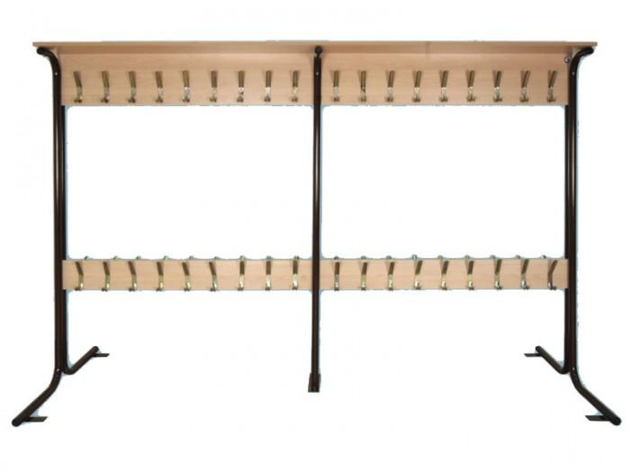 Вешалка напольная двухсторонняя на 36 мест