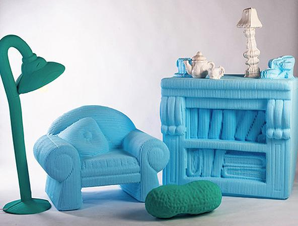 Вязаная корпусная и мягкая мебель