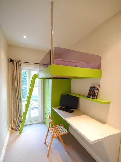 Зеленые оттенки мебели