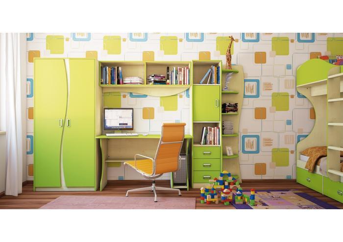 Зеленый цвет в интерьере комнаты