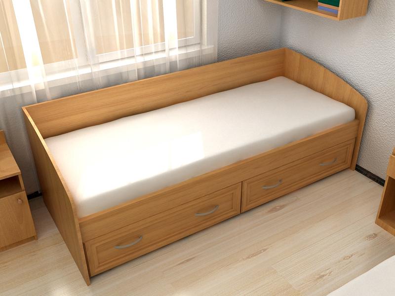 2 ящика в односпальной кровати
