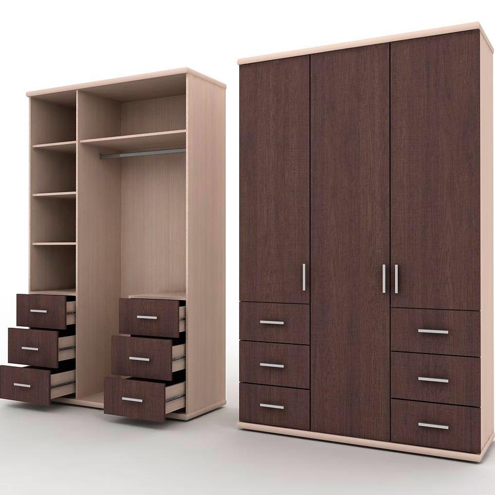 3 дверный распашной шкаф