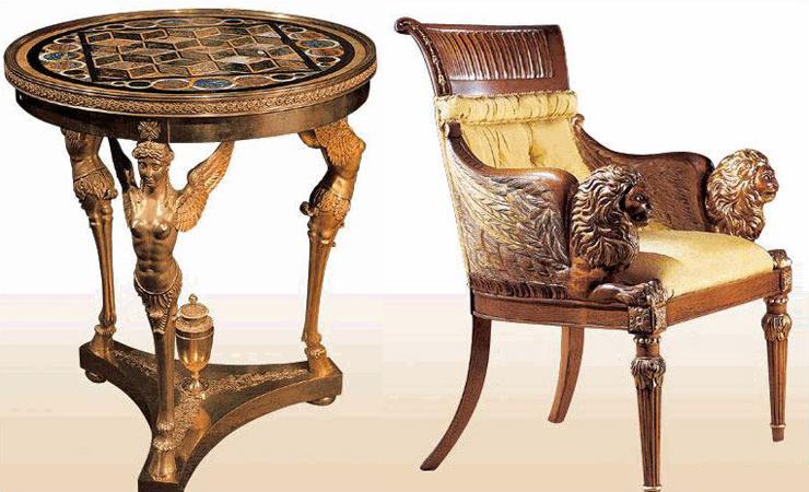Антикварная мебель в стиле ампир
