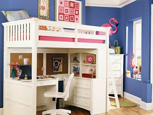Белая мебель для обустройства детской комнаты