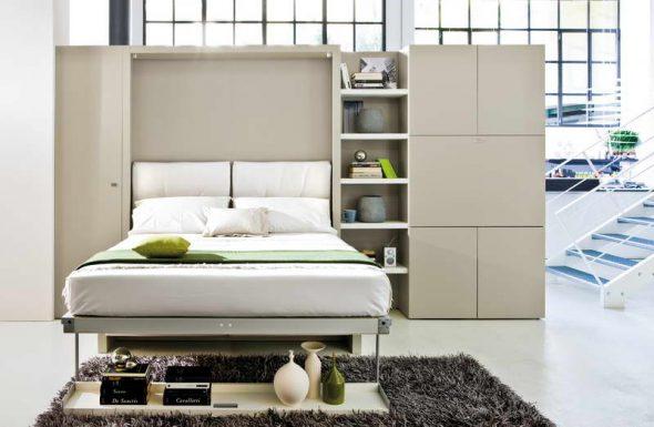 Белая шкаф-кровать в интерьере