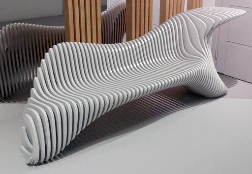 Белые оригинальные предметы мебели