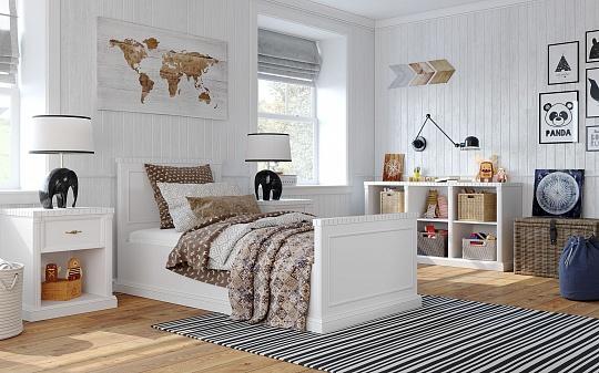 Белый цвет интерьера комнаты ребенка
