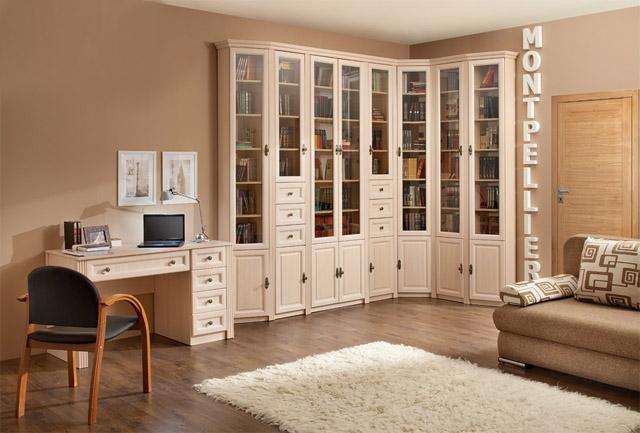 Белый цвет современной корпусной мебели
