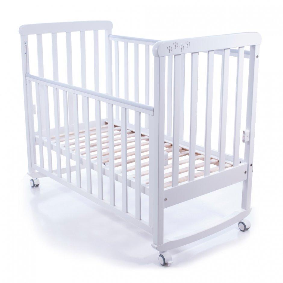 Белый цвет современной кровати для ребенка