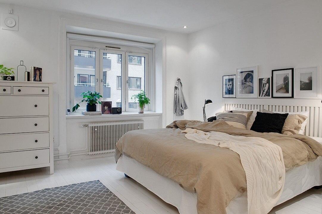 Бежевые тона дизайна комнаты