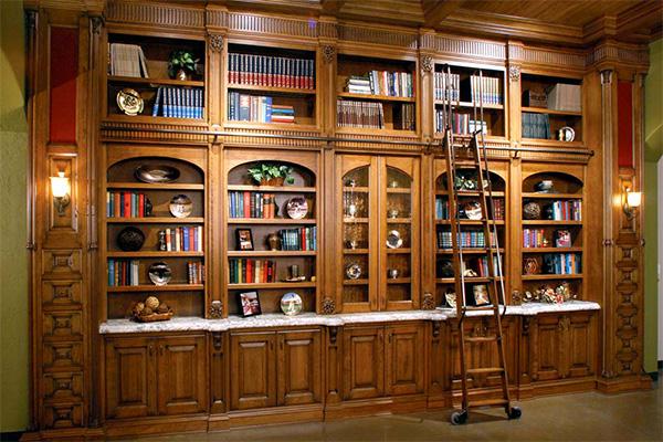 Библиотека из натурального массива дерева