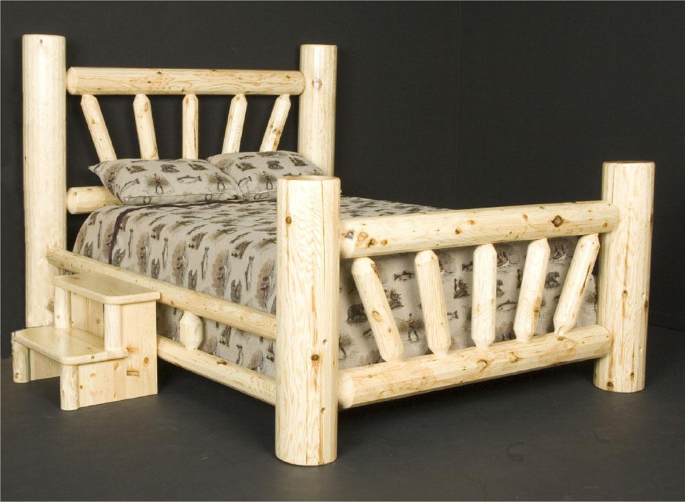 Бревенчатая кровать