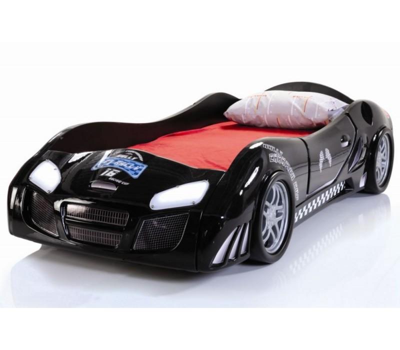 Черная модель спального ложе для ребенка Форсаж