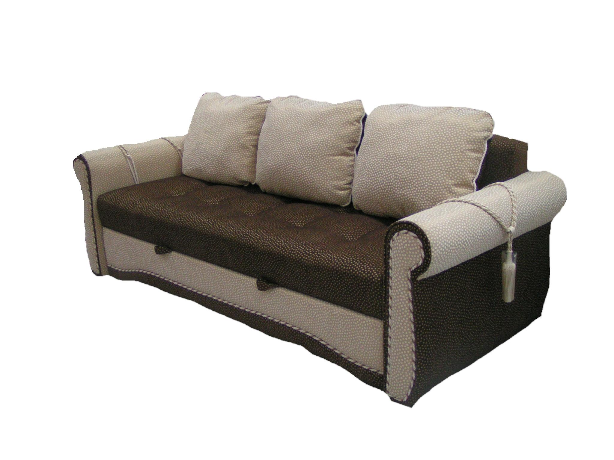 Четырехместный диван с практичным спальным ложе для подростка
