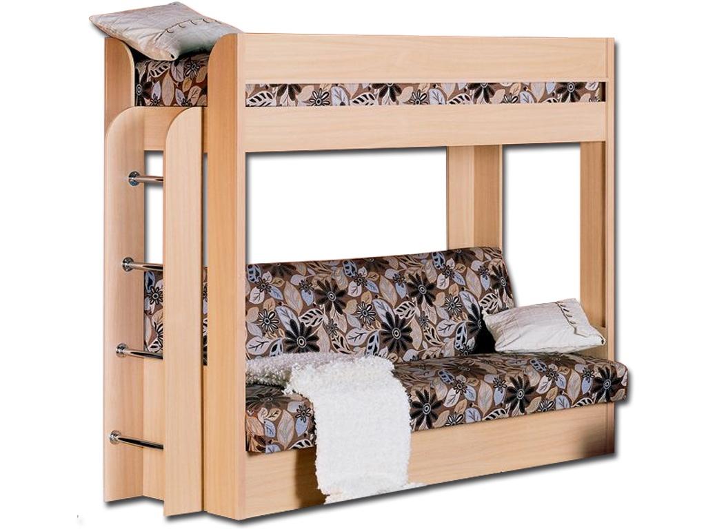 двухъярусная кровать с диваном варианты исполнения секций