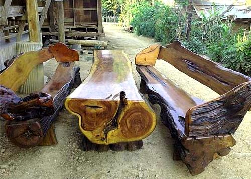 Дачная мебель своими руками из бревен