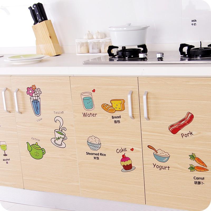 Декоративные наклейки в дизайне кухни