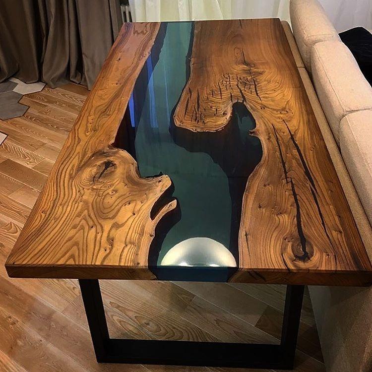 Делаем стол из эпоксидной смолы