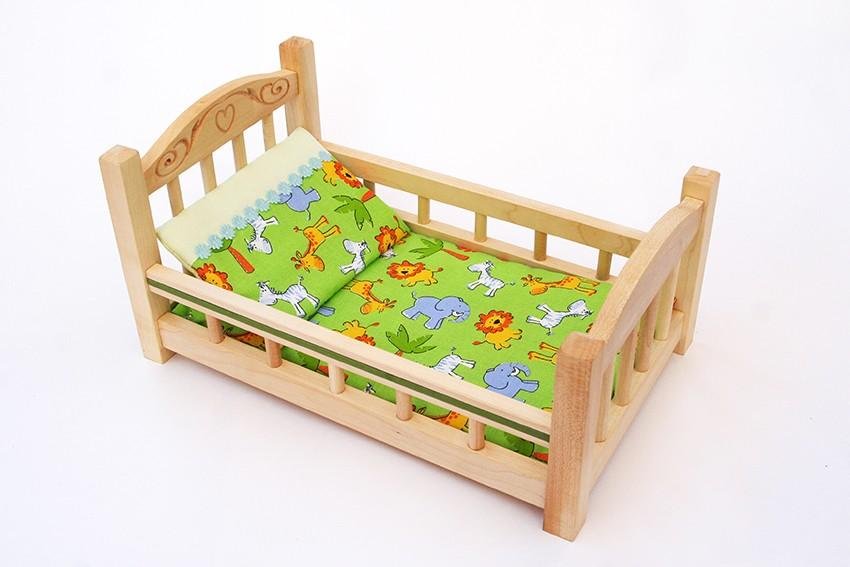 Деревянная кроватка для куклы, маленькая