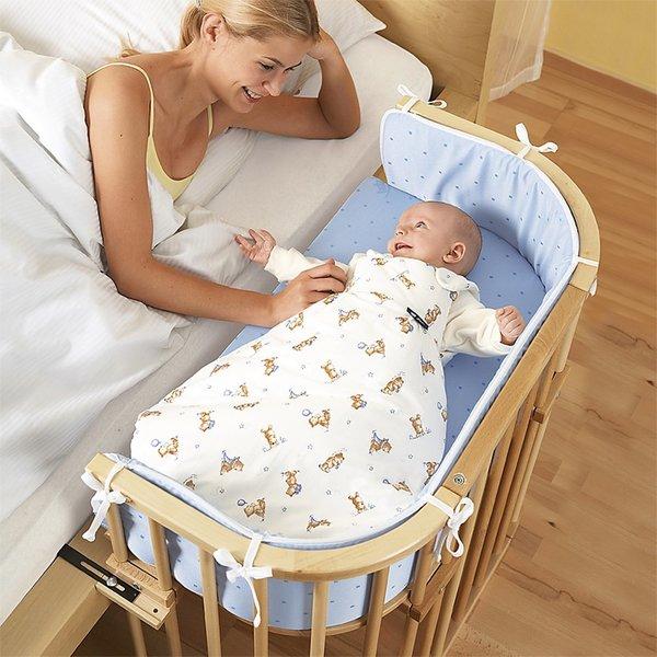 Детская приставная кроватка