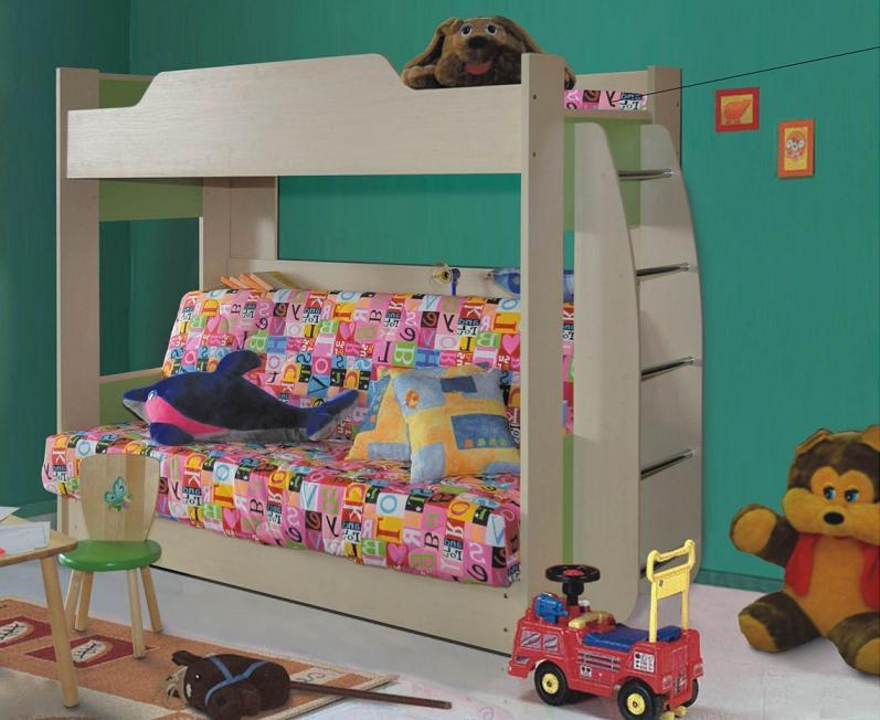 Детские двухъярусные кровати с диваном удобные