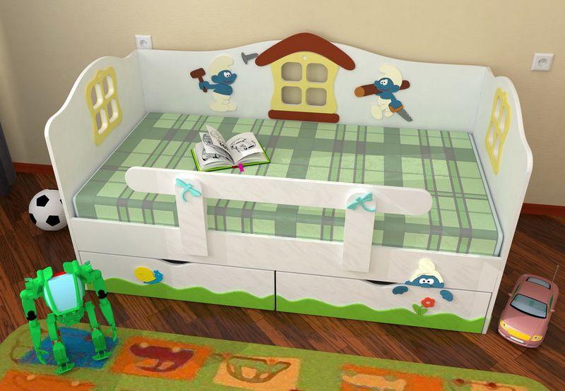 Детские кровати с бортиками с оригинальным дизайном