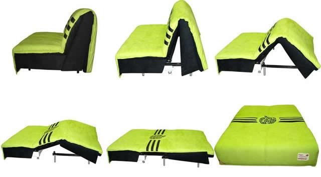 Диван Аккордеон зеленого цвета
