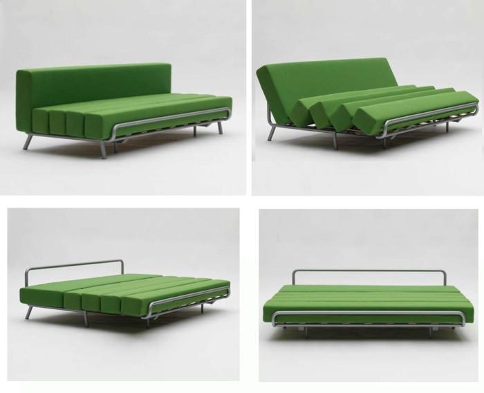 Диван-кровать в современном стиле зеленого цвета