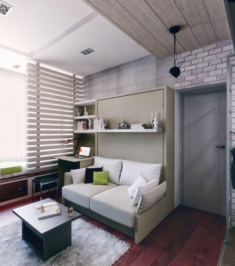 Дизайн комнаты с функциональной мебелью